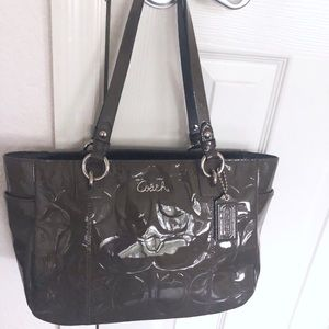 Coach patent leather tote